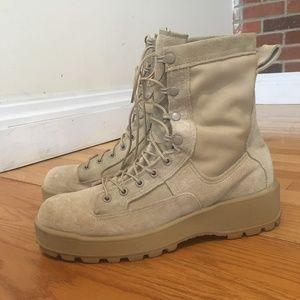 Wellco Mens Tan Desert Military Tactical Boots